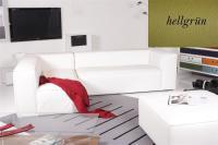 Ecksofa - Sofa Het Anker Leder Toledo hellgrün Recamiere links Summer