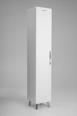 Tenzo COBRA Designer Hochschrank weiß MDF lackiert abschließbar