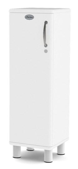 MALIBU - Designer Schrank niedrig 5121-005 abschließbar, weiß, MDF lackiert