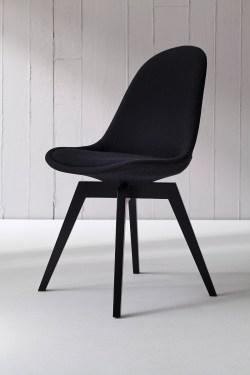 Tenzo Stuhl BESS fabric schwarz/schwarz 2er Set