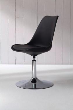 Tenzo Stuhl TEQUILA schwarz/chrom 2er Set