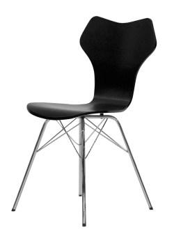 Tenzo Stuhl TEQUILA NIPO schwarz / chrome 4er Set 9131-824