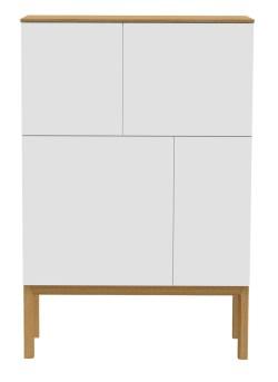 Tenzo Designer Sideboard / Highboard PATCH weiß/eiche 2276-454
