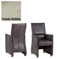 Designer Stuhl - Dublo Leder Toledo Nebbia von Kasper Wohndesign