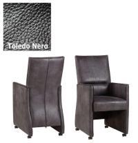 Designer Stuhl - Dublo Leder Toledo Nero von Kasper Wohndesign