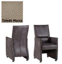Designer Stuhl - DubloLeder Toledo Mocca von Kasper Wohndesign