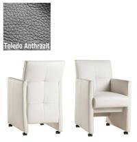 Designer Stuhl - Cross Leder Toledo Anthrazit von Kasper Wohndesign