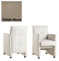 Designer Stuhl - Cross Leder Toledo Mocca von Kasper Wohndesign