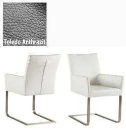 Freischinger - Agio  Leder Toledo anthrazit ohne Griff von Kasper Wohndesign