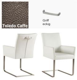 Freischinger - Agio  Leder Toledo braun mit Griff eckig von Kasper Wohndesign