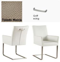 Freischinger - Agio  Leder Toledo beige mit Griff eckig von Kasper Wohndesign