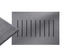 Stitch Teppich grau 200 x 300 cm mit Streifen