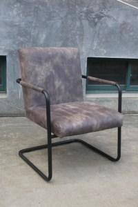 4x Stuhl Tesso Eszimmerstuhl Kunstleder Freischwinger grau