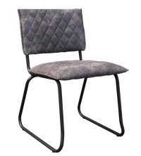 6x Stuhl Keda Esszimmerstuhl Kunstleder grau