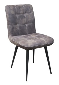 4x Stuhl Senta Esszimmerstuhl Kunstleder grau