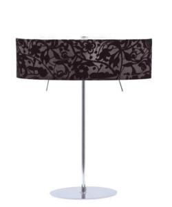 Sompex Tischlampe Fleur schwarz / chrom