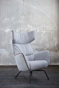 KAWOLA Sessel NELA Einzelsessel grau 79x82x117 (B/T/H)
