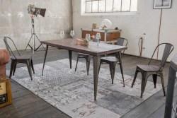 KAWOLA Esszimmertisch KELIO Tisch 200x90cm Holz/Metall
