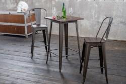 KAWOLA Bartisch VILDA Tisch Holz/Metall