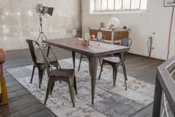 KAWOLA Essgruppe Tisch KELIO 160x80cm mit 4x Stuhl GERO Holz/Metall