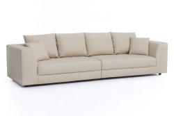 KAWOLA Big Sofa MERA XXL-Wohnlandschaft Stoff creme