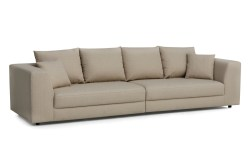 KAWOLA Big Sofa MERA XXL-Wohnlandschaft Stoff beige
