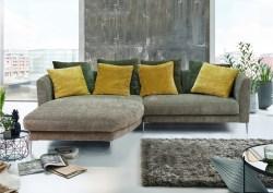 KAWOLA Ultrasofa LORY Sofa Recamiere links Stoff olivgrün