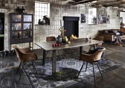 KAWOLA Esstisch TYED Tisch Eiche massiv grau 220x100cm