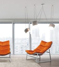 KAWOLA Relaxsessel SIRO Sessel Stoff orange (B/H/T) 70x78x125cm