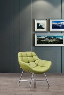 KAWOLA Sessel BERIO Polstersessel Kunstleder grün (B/H/T) 75x79x41cm