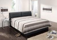 Polsterbett INA Kunstleder schwarz Bett 160x200cm