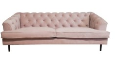 KAWOLA Sofa MIRA 3-Sitzer Stoff light rose