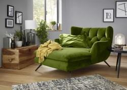 KAWOLA Longchair CHARME Stoff Velvet green