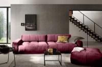 KAWOLA Sofa PALACE Stoff velvet rosa