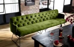 KAWOLA Esszimmerbank CHARME Stoff Velvet green 166cm