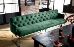 KAWOLA Esszimmerbank CHARME 206cm Stoff Velvet smaragd