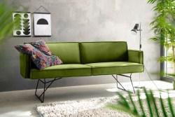 KAWOLA Esszimmerbank JASPER Stoff Velvet green 256cm