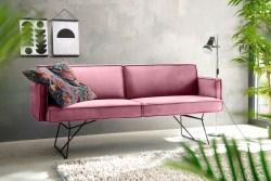 KAWOLA Esszimmerbank JASPER Stoff Velvet rosa 176cm