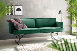 KAWOLA Esszimmerbank JASPER Stoff Velvet smaragd 216cm