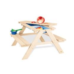 Kindersitzgarnitur 'Matsch-Nicki für 4', natur