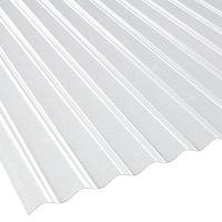 Lichtplatte 76/18 glasklar gekräuselt Polycarbonat Sinusprofil Stärke 1,4 mm Breite 0,90 m