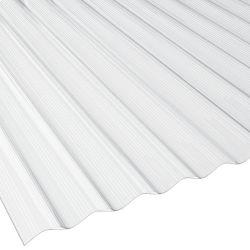 Polycarbonat NO DROP Sinusprofil Lichtplatte 76/18 Stärke 1,4 mm Breite 1,116 m transparent
