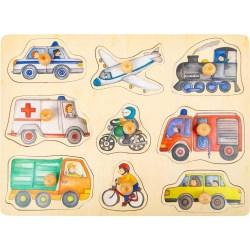 Setzpuzzle Fahrzeuge der Stadt