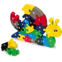 Steckpuzzle ABC Schnecke