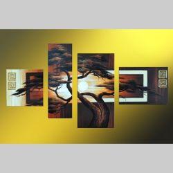 4 Leinwandbilder AFRIKA Baum (6) 120 x 70cm Handgemalt