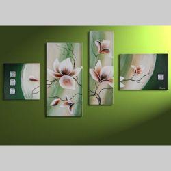 4 Leinwandbilder MAGNOLIA (11) 120 x 70cm Handgemalt