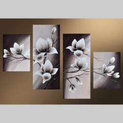 4 Leinwandbilder MAGNOLIA (12) 120 x 80cm Handgemalt