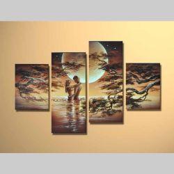 4 Leinwandbilder LIEBESPAAR (2) 120 x 80cm Handgemalt