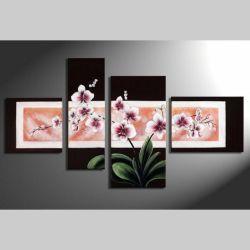 4 Leinwandbilder ORCHIDEEN (1) 120 x 70cm Handgemalt