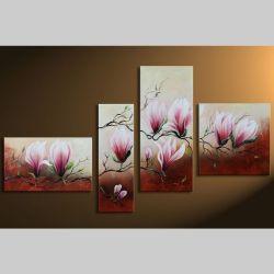 4 Leinwandbilder MAGNOLIA (1) 140 x 80cm Handgemalt